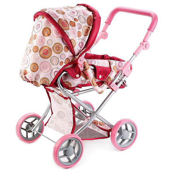 Купить Коляска для кукол 3 в 1 Карапуз, светло-розовая, КАРАПУЗ, Китай, розовый, Женский