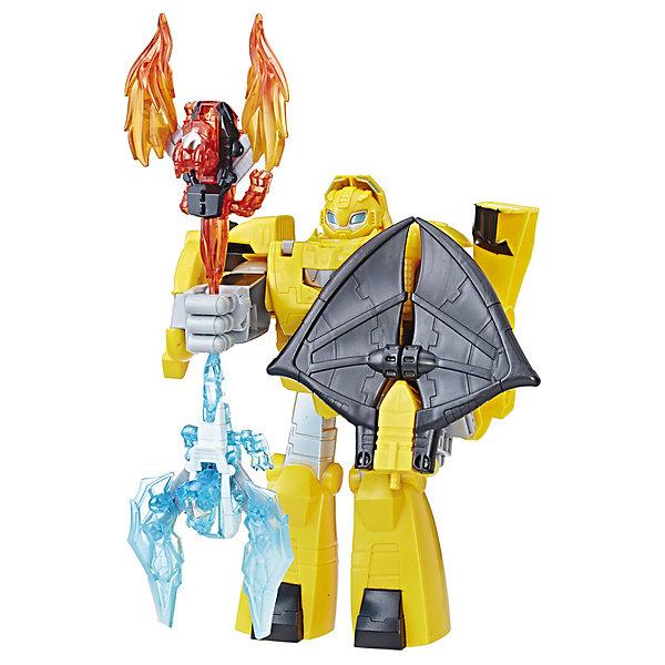 Трансформеры Hasbro Transformers Боты-спасатели БамблбиГерои комиксов<br>Характеристики:<br><br>• возраст: от 3 лет;<br>• материал: пластик;<br>• высота игрушки: 25 см;<br>• в наборе: трансформер, аксессуары;<br>• вес упаковки: 793 гр.;<br>• размер упаковки: 8,1х31,8х27,9 см;<br>• страна бренда: США.<br><br>Hasbro Transformers «Боты-спасатели: Бамблби» – игрушка по мотивам знаменитого фильма «Трансформеры». Желтый робот имеет грозный вид и уже готов сразиться со злодеями. В его руках оружие и щит, конечности фигуры подвижны.<br><br>Кроме того, Бамблби может превращаться в храброго дракона. Игрушка подходит для сюжетных игр, выполнена из качественных безопасных материалов.<br><br>Трансформеры «Боты-спасатели Бамблби», Hasbro Transformers можно купить в нашем интернет-магазине.<br>Ширина мм: 81; Глубина мм: 318; Высота мм: 279; Вес г: 793; Возраст от месяцев: 36; Возраст до месяцев: 84; Пол: Мужской; Возраст: Детский; SKU: 7922849;