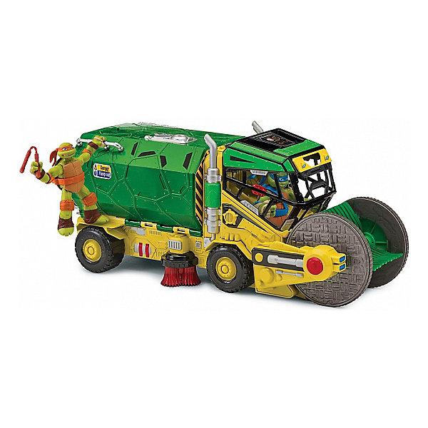 Грузовик-сборщик Playmates Черепашки-ниндзя  МикроЧерепашки Ниндзя<br>Характеристики товара:<br><br>• возраст: от 4 лет<br>• герой: Черепашки Ниндзя / TMNT<br>• комплект: грузовик, 3 минифигурки.<br>• из чего сделана игрушка (состав): пластик.<br>• размер упаковки: 20.3 х 40.6 х 17.8 см.<br>• упаковка: картонная коробка.<br><br>Многофункциональный Грузовик-сборщик, который собирает с поверхности мелкие игрушки, а также трансформируется в интерактивный игровой набор.<br><br>В комплект включены три мини-фигурки героев этого культового мультсериала.<br>Многофункциональный Грузовик-сборщик станет отличным подарком для юного поклонника черепашек и откроет новые возможности для увлекательных сюжетных игр.<br><br>Грузовик-сборщик Черепашек-ниндзя можно купить в нашем интернет-магазине<br>Ширина мм: 170; Глубина мм: 190; Высота мм: 440; Вес г: 2000; Возраст от месяцев: 60; Возраст до месяцев: 84; Пол: Мужской; Возраст: Детский; SKU: 7923244;