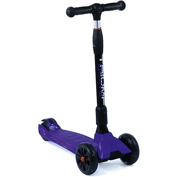 Трехколесный самокат Triumf Active Maxi Pro Flash SKL-L-02,синийСамокаты<br>Характеристики товара: <br><br>• возраст: от 3 лет;<br>• максимальная нагрузка: 60 кг;<br>• материал рамы: алюминий, пластик;<br>• диаметр передних колес 135 мм, заднего 90 мм;<br>• материал колес: полиуретан;<br>• светящиеся колеса;<br>• ножной тормоз Step-on-brake;<br>• подшипник АВЕС 7;<br>• регулировка высоты руля от 65 до 85 см;<br>• размер деки: 35х14 см;<br>• длина самоката: 62 см;<br>• вес самоката: 3,7 кг;<br>• размер упаковки: 62х28х16 см;<br>• вес упаковки: 4,2 кг.<br><br>Трехколесный самокат Triumf Active Maxi Pro Flash SKL-L-02 синий — городской самокат для самых маленьких пользователей. Благодаря паре передних колес достигается хорошая устойчивость, что позволит малышам легко осваивать навыки катания на самокате и держать равновесие. Колеса выполнены из износостойкого полиуретана. Они развивают хорошую скорость и делают катание ровным и бесшумным. Светящиеся колеса делают катание еще эффектней. <br><br>Руль можно отрегулировать по мере роста ребенка. На ручках руля прорезиненные грипсы, которые не дадут ладоням соскальзывать во время езды. На заднем колесе ножной тормоз, который обеспечит быстрое торможение. Дека выполнена из прочного пластика. Самокат легко складывается для переноски. <br><br>Трехколесный самокат Triumf Active Maxi Pro Flash SKL-L-02 синий можно приобрести в нашем интернет-магазине.<br>Ширина мм: 620; Глубина мм: 280; Высота мм: 160; Вес г: 4200; Цвет: синий; Возраст от месяцев: 36; Возраст до месяцев: 96; Пол: Унисекс; Возраст: Детский; SKU: 7925375;