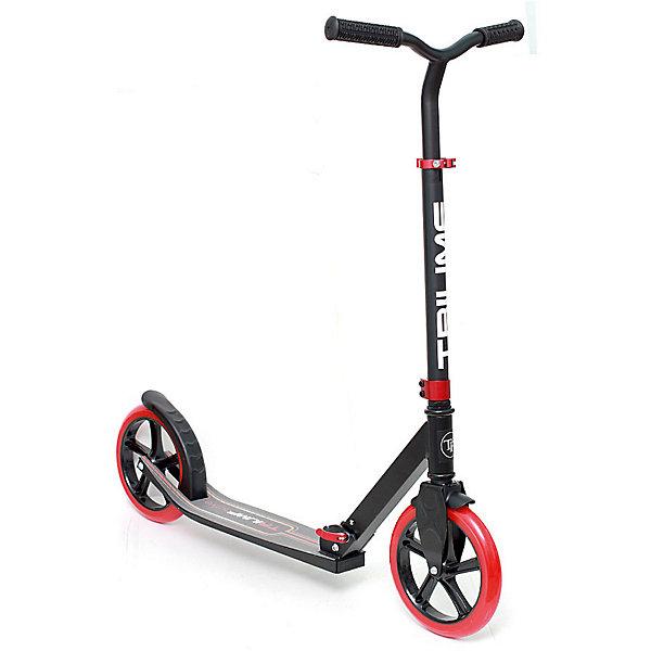 Самокат Triumf Active PT-230,красныйСамокаты<br>Характеристики товара: <br><br>• возраст: от 5 лет;<br>• максимальная нагрузка: 100 кг;<br>• материал рамы: алюминий;<br>• диаметр колес 230 мм;<br>• материал колес: полиуретан;<br>• ножной тормоз;<br>• подшипник АВЕС 7;<br>• регулировка высоты руля от 85 до 103 см;<br>• ширина руля: 43 см;<br>• размер платформы: 34х12 см;<br>• вес самоката: 4,2 кг;<br>• длина самоката: 88 см;<br>• размер упаковки: 66х40х13 см;<br>• вес упаковки: 4,6 кг.<br><br>Самокат Triumf Active РТ-230 красный -  городской самокат для детей и подростков от 5 лет. Рама самоката выполнена из прочного алюминия. Полиуретановые колеса развивают хорошую скорость и обеспечивают плавное и бесшумное катание. Руль самоката регулируется по высоте, что позволяет кататься на нем не только детям и подросткам, но и взрослым. На ручках руля прорезиненные накладки для лучшего захвата.<br><br>Ножной тормоз на заднем колесе гарантирует безопасную езду и быстрое торможение перед возникшим препятствием. Подшипники обеспечивает хороший накат. Самокат компактно складывается для транспортировки или хранения дома. <br><br>Самокат Triumf Active РТ-230 красный можно приобрести в нашем интернет-магазине.<br>Ширина мм: 780; Глубина мм: 240; Высота мм: 320; Вес г: 7800; Цвет: красный; Возраст от месяцев: 60; Возраст до месяцев: 2147483647; Пол: Унисекс; Возраст: Детский; SKU: 7925395;