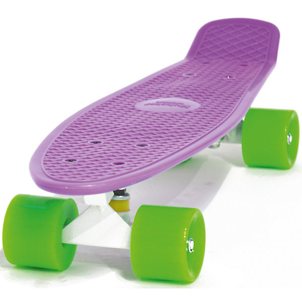 Пенни борд Hubster Cruiser 22 фиолетовый с зелеными колесамиСкейтборды и лонгборды<br>Характеристики товара: <br><br>• возраст: от 5 лет;<br>• максимальная нагрузка: 90 кг;<br>• диаметр колес: 59 мм;<br>• материал колес: полиуретан;<br>• жесткость колес: 78А;<br>• размер платформы: 56х15 см;<br>• материал платформы: пластик;<br>• подшипник АВЕС 7;<br>• подвеска: алюминий, 3 дюйма;<br>• размер упаковки: 57х13х10 см;<br>• вес упаковки: 1,9 кг.<br><br>Пенни борд Hubster Cruiser 22 фиолетовый с зелеными колесами — популярное средство передвижения по городу, подойдет как для детей и подростков, так и взрослых. Колеса выполнены из полиуретана, они обеспечивают ровное катание и хорошее сцепление  поверхностью, не гремят по асфальту и не скользят на влажном покрытии.<br><br>Подшипники обеспечивают хороший накат и высокую скорость. Платформа выполнена из прочного пластика и усилена стекловолокном и выдерживает большие нагрузки. Поверхность деки рифленая, она препятствует соскальзыванию ног во время езды. <br><br>Пенни борд Hubster Cruiser 22 фиолетовый с зелеными колесами можно приобрести в нашем интернет-магазине.<br>Ширина мм: 570; Глубина мм: 130; Высота мм: 100; Вес г: 1900; Цвет: фиолетовый; Возраст от месяцев: 60; Возраст до месяцев: 2147483647; Пол: Унисекс; Возраст: Детский; SKU: 7925413;