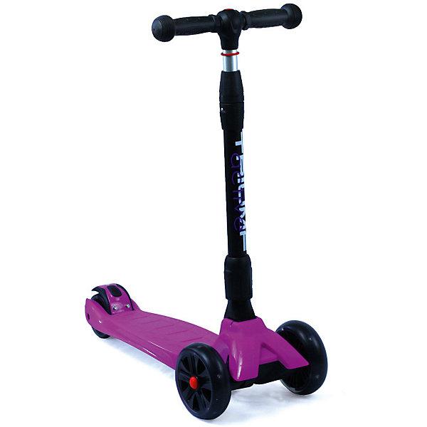 Трехколесный самокат Triumf Active Maxi Pro Flash SKL-L-02,сиреневыйСамокаты<br>Характеристики товара: <br><br>• возраст: от 3 лет;<br>• максимальная нагрузка: 60 кг;<br>• материал рамы: алюминий, пластик;<br>• диаметр передних колес 135 мм, заднего 90 мм;<br>• материал колес: полиуретан;<br>• светящиеся колеса;<br>• ножной тормоз Step-on-brake;<br>• подшипник АВЕС 7;<br>• регулировка высоты руля от 65 до 85 см;<br>• размер деки: 35х14 см;<br>• длина самоката: 62 см;<br>• вес самоката: 3,7 кг;<br>• размер упаковки: 62х28х16 см;<br>• вес упаковки: 4,2 кг.<br><br>Трехколесный самокат Triumf Active Maxi Pro Flash SKL-L-02 сиреневый — городской самокат для самых маленьких пользователей. Благодаря паре передних колес достигается хорошая устойчивость, что позволит малышам легко осваивать навыки катания на самокате и держать равновесие. Колеса выполнены из износостойкого полиуретана. Они развивают хорошую скорость и делают катание ровным и бесшумным. Светящиеся колеса делают катание еще эффектней. <br><br>Руль можно отрегулировать по мере роста ребенка. На ручках руля прорезиненные грипсы, которые не дадут ладоням соскальзывать во время езды. На заднем колесе ножной тормоз, который обеспечит быстрое торможение. Дека выполнена из прочного пластика. Самокат легко складывается для переноски. <br><br>Трехколесный самокат Triumf Active Maxi Pro Flash SKL-L-02 сиреневый можно приобрести в нашем интернет-магазине.<br>Ширина мм: 620; Глубина мм: 280; Высота мм: 160; Вес г: 4200; Цвет: фиолетовый; Возраст от месяцев: 36; Возраст до месяцев: 96; Пол: Унисекс; Возраст: Детский; SKU: 7925419;