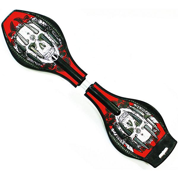 Двухколесный скейт Dragon Board Calavera красныйСкейтборды и лонгборды<br>Характеристики товара: <br><br>• возраст: от 5 лет;<br>• максимальная нагрузка: 70 кг;<br>• в комплекте: скейтборд, чехол;<br>• диаметр колес: 80 мм;<br>• материал колес: полиуретан;<br>• жесткость колес: 82А;<br>• материал платформы: ABS пластик;<br>• подшипник АВЕС 5;<br>• размер: 23х13х87 см;<br>• размер упаковки: 23х13х87 см;<br>• вес упаковки: 2,8 кг.<br><br>Двухколесный скейт Dragon Board Calavera красный — необычный двухколесный скейтборд, катание на котором быстрое и плавное. Он подойдет как опытным, так и начинающим райдерам. <br><br>Колеса выполнены из полиуретана, они обеспечивают ровное катание и хорошее сцепление  поверхностью, не гремят по асфальту и не скользят на влажном покрытии. <br><br>Подшипники обеспечивают хороший накат и высокую скорость. Платформа выполнена из прочного пластика. Поверхность деки рифленая, она препятствует соскальзыванию ног во время езды. <br><br>Двухколесный скейт Dragon Board Calavera красный можно приобрести в нашем интернет-магазине.<br>Ширина мм: 870; Глубина мм: 130; Высота мм: 230; Вес г: 2800; Цвет: красный; Возраст от месяцев: 60; Возраст до месяцев: 2147483647; Пол: Унисекс; Возраст: Детский; SKU: 7925425;
