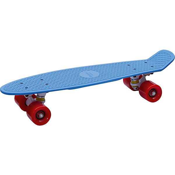 Пенни борд Hubster Cruiser 22 синий с красными колесамиСкейтборды и лонгборды<br>Характеристики товара: <br><br>• возраст: от 5 лет;<br>• максимальная нагрузка: 90 кг;<br>• диаметр колес: 59 мм;<br>• материал колес: полиуретан;<br>• жесткость колес: 78А;<br>• размер платформы: 56х15 см;<br>• материал платформы: пластик;<br>• подшипник АВЕС 7;<br>• подвеска: алюминий, 3 дюйма;<br>• размер упаковки: 57х13х10 см;<br>• вес упаковки: 1,9 кг.<br><br>Пенни борд Hubster Cruiser 22 синий с красными колесами — популярное средство передвижения по городу, подойдет как для детей и подростков, так и взрослых. Колеса выполнены из полиуретана, они обеспечивают ровное катание и хорошее сцепление  поверхностью, не гремят по асфальту и не скользят на влажном покрытии.<br><br>Подшипники обеспечивают хороший накат и высокую скорость. Платформа выполнена из прочного пластика и усилена стекловолокном и выдерживает большие нагрузки. Поверхность деки рифленая, она препятствует соскальзыванию ног во время езды. <br><br>Пенни борд Hubster Cruiser 22 синий с красными колесами можно приобрести в нашем интернет-магазине.<br>Ширина мм: 570; Глубина мм: 130; Высота мм: 100; Вес г: 1900; Цвет: синий; Возраст от месяцев: 60; Возраст до месяцев: 2147483647; Пол: Унисекс; Возраст: Детский; SKU: 7925469;