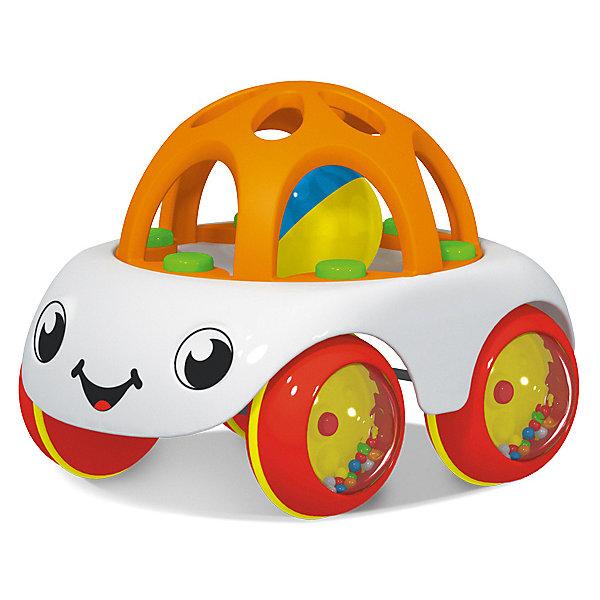 Машинка-погремуша Stellar «Пончик»Игрушки для новорожденных<br>Характеристики:<br><br>• возраст: 1+;<br>• материал: полипропилен;<br>• размеры: 13,5х15х17 см;<br>• вес: 180 г.<br><br>Симпатичная машинка «Пончик» - хорошая игрушка для самых маленьких непосед. Кабина машинки выполнена из мягкого материала, она помогает малышам в период прорезывания зубов. Внутри кабины перекатывается шарик с приятным звучанием.<br><br>Колеса машинки наполнены маленькими разноцветными шариками, которые радужно пересыпаются и издают веселый звук, что обязательно вызовет интерес у малыша.<br><br>Увлекательная игрушка полюбится малышам с первого взгляда и будет дарить им только положительные эмоции во время игры. Игрушка изготовлена из высококачественной и прочной пластмассы.  <br><br>Машинку «Пончик», Stellar можно приобрести в нашем интернет-магазине.<br>Ширина мм: 135; Глубина мм: 150; Высота мм: 170; Вес г: 180; Возраст от месяцев: 12; Возраст до месяцев: 2147483647; Пол: Унисекс; Возраст: Детский; SKU: 7925553;