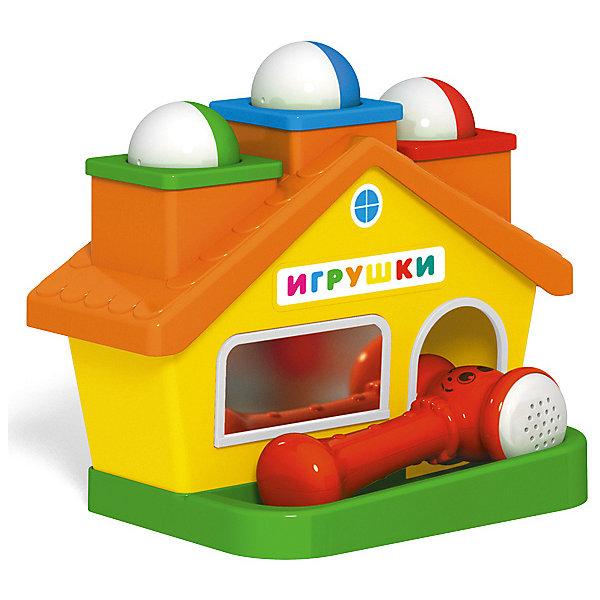 Стучалка Stellar ДомикРазвивающие игрушки<br>Характеристики:<br><br>• возраст: 1+;<br>• материал: полистирол;<br>• размеры: 26х16,5х19 см;<br>• вес: 0,61 кг.<br><br>Простая и веселая стучалка «Домик» станет любимой игрушкой малыша. На крыше домика находятся 3 трубы, в которые можно установить разноцветные шарики. <br><br>При ударе кувалдочкой шарики проваливаются и затем выкатываются из двери домика, вызывая восторг малыша.<br><br>В процессе игры можно легко обучить малыша понятиям «слева», «справа», «посередине», попросив ребенка вложить шарик в ту или иную трубу.<br><br>Игрушка изготовлена из высококачественного пластика.<br><br>Увлекательная игрушка будет благоприятно влиять на эмоциональное состояние и настроение малыша.<br><br>Игрушку «Стучалка домик», Stellar можно приобрести в нашем интернет-магазине.<br>Ширина мм: 260; Глубина мм: 165; Высота мм: 190; Вес г: 610; Возраст от месяцев: 12; Возраст до месяцев: 2147483647; Пол: Унисекс; Возраст: Детский; SKU: 7925559;