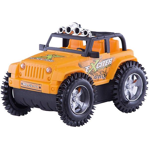 Машина-перевертыш Zhorya ДжипМашинки<br>Характеристики:<br><br>• возраст: 3+;<br>• материал: пластик;<br>• размеры: 15х11х11 см;<br>• вес: 209 г.<br><br>Небольшой игрушечный джип очень напоминает настоящую модель машины. Все детали тщательно проработаны, у джипа правильная форма корпуса, есть кабина водителя, багажник.<br><br>Игрушка оснащена датчиками звука и света. Во время игры машинка издает сигналы движения и светит фарами.<br><br>Джип можно использовать в игре с разными сюжетами: принять участие в гонках, поехать в путешествие в горы, перевозить грузы. Мальчики смогут почувствовать себя водителем настоящего джипа.<br><br>Работает от аккумулятора.<br><br>Машину-перевертыш «Джип», Zhorya можно приобрести в нашем интернет-магазине.<br>Ширина мм: 150; Глубина мм: 110; Высота мм: 110; Вес г: 209; Возраст от месяцев: 36; Возраст до месяцев: 2147483647; Пол: Мужской; Возраст: Детский; SKU: 7925591;