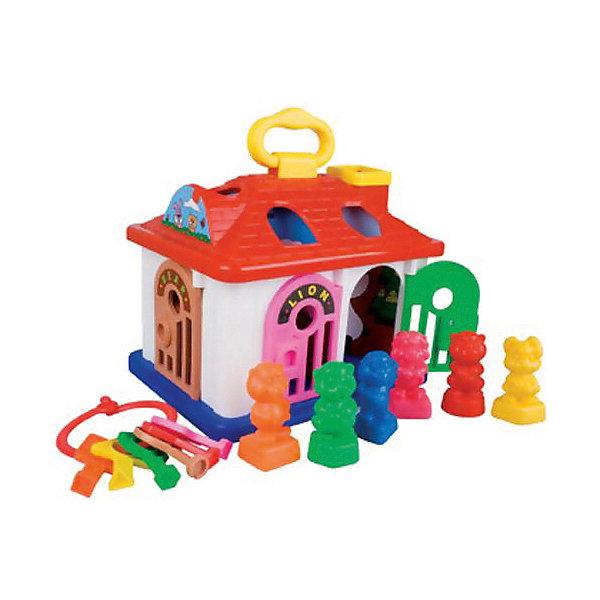 Сортер Red Box Домик ZooРазвивающие игрушки<br>Характеристики товара:<br><br>• возраст: от 1,5 лет;<br>• материал: пластик;<br>• в комплекте: домик, 6 фигурок, 6 ключей;<br>• размер упаковки: 25х25х25 см;<br>• вес упаковки: 550 гр.<br><br>Домик-сортер Zoo Red Fox — развивающая игрушка-сортер для малышей, выполненная в виде домика-зоопарка. В нем живут 6 животных, у каждого из которых своя клетка. Чтобы поместить животное в домик, на крыше есть отверстие определенной геометрической формы для каждой фигурки. А чтобы выпустить животное обратно, для двери клетки надо подобрать подходящий ключик.<br><br>Игрушка способствует развитию внимательности, логического мышления, научит ребенка распознавать формы и цвета.<br><br>Домик-сортер Zoo Red Fox можно приобрести в нашем интернет-магазине.<br>Ширина мм: 250; Глубина мм: 250; Высота мм: 250; Вес г: 550; Возраст от месяцев: 228; Возраст до месяцев: 168; Пол: Унисекс; Возраст: Детский; SKU: 7925599;