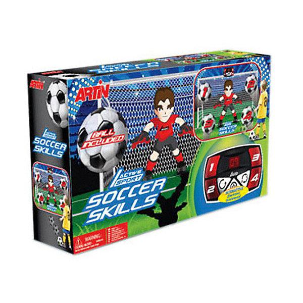 Игровой набор ARTIN Футбольные навыкиСпортивные настольные игры<br>Характеристики товара:<br><br>• возраст: от 3 лет;<br>• в комплекте: мяч, экран;<br>• тип батареек: 3 батарейки АА;<br>• наличие батареек: в комплект не входят;<br>• размер экрана: 91,8х64 см;<br>• размер упаковки: 55х31х17 см;<br>• вес упаковки: 870 гр.<br><br>Игра «Футбольные навыки» Antin способствует развитию реакции и меткости. На стену вешается игровое устройство, на котором загорается номер ячейки. Ребенку предстоит попасть по этой ячейке мячом. По ходу игры идет подсчет очков.<br><br>Игру «Футбольные навыки» Antin можно приобрести в нашем интернет-магазине.<br>Ширина мм: 550; Глубина мм: 170; Высота мм: 310; Вес г: 870; Возраст от месяцев: 36; Возраст до месяцев: 168; Пол: Унисекс; Возраст: Детский; SKU: 7925609;
