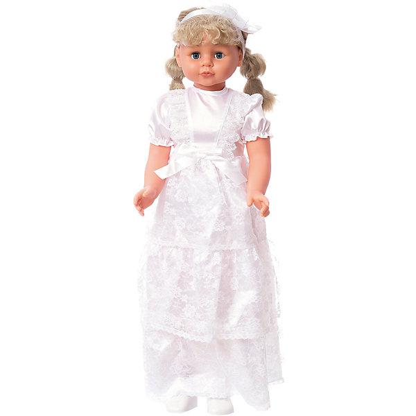 Кукла Lotus Onda в свадебном платье, 90 смКуклы<br>Характеристики товара:<br><br>• возраст: от 3 лет;<br>• материал: пластик, текстиль;<br>• высота куклы: 90 см;<br>• размер упаковки: 90х32х22 см;<br>• вес упаковки: 900 гр.<br><br>Кукла в свадебном платье Lotus Onda — очаровательная девочка с большими глазками, длинными ресницами и светлыми волосами. Волосы куколки можно расчесывать, украшать и заплетать. <br><br>Она предстает в образе невесты. На ней белоснежное платье с бантом на поясе. Кукла умеет ходить. Нужно взять ее за ручку, и она пойдет рядом вместе с девочкой. <br><br>Куклу в свадебном платье Lotus Onda можно приобрести в нашем интернет-магазине.<br>Ширина мм: 320; Глубина мм: 220; Высота мм: 900; Вес г: 900; Возраст от месяцев: 36; Возраст до месяцев: 168; Пол: Унисекс; Возраст: Детский; SKU: 7925625;