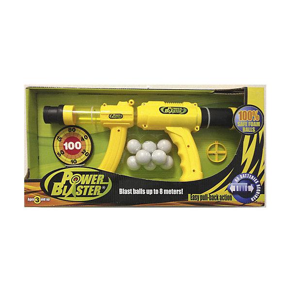Бластер Toy Target Power BlasterИгрушечные пистолеты и бластеры<br>Характеристики товара:<br><br>• возраст: от 3 лет;<br>• материал: пластик;<br>• в комплекте: бластер, 8 шаров, мишень, прицел;<br>• диаметр шарика: 4 см;<br>• размер упаковки: 46х25х10 см;<br>• вес упаковки: 530 гр.<br><br>Игрушечное оружие «Power Blaster» Toy Target — бластер, с которым можно устроить настоящие соревнования на звание лучшего и меткого стрелка. Бластер работает от помпового механизма и для его работы не нужны батарейки. Он заряжается одновременно 8 патронами, которые пролетают на расстояние до 8 метров. Чтобы произвести выстрел, нужно лишь привести в действие помповый механизм.<br><br>Игрушечное оружие «Power Blaster» Toy Target можно приобрести в нашем интернет-магазине.<br>Ширина мм: 460; Глубина мм: 100; Высота мм: 250; Вес г: 530; Возраст от месяцев: 36; Возраст до месяцев: 168; Пол: Унисекс; Возраст: Детский; SKU: 7925629;