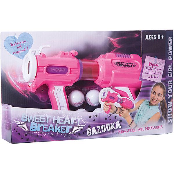 Бластер Toy Target Sweet Heart BreakerИгрушечные пистолеты и бластеры<br>Характеристики товара:<br><br>• возраст: от 8 лет;<br>• материал: пластик;<br>• в комплекте: бластер, 6 шаров;<br>• размер упаковки: 46х25х10 см;<br>• вес упаковки: 540 гр.<br><br>Игрушечное оружие «Sweet Heart Breaker» Toy Target — бластер для девочек, с которым они смогут устроить захватывающие сражения или соревнования на звание меткого стрелка. Небольшой вес позволяет стрелять даже одной рукой. У бластера 2 рукоятки, чтобы можно было увереннее и точнее стрелять.<br><br>Игрушечное оружие «Sweet Heart Breaker» Toy Target можно приобрести в нашем интернет-магазине.<br>Ширина мм: 460; Глубина мм: 100; Высота мм: 250; Вес г: 540; Возраст от месяцев: 36; Возраст до месяцев: 168; Пол: Унисекс; Возраст: Детский; SKU: 7925639;