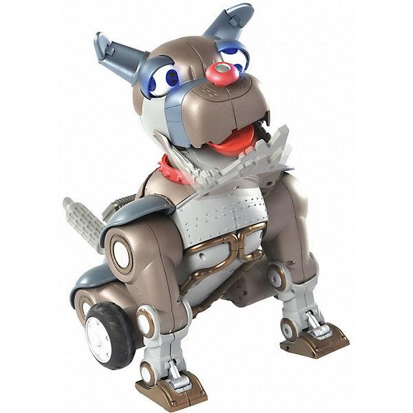 Мини-робот WowWee Собака РексРоботы<br>Характеристики товара:<br><br>• возраст: от 4 лет;<br>• материал: пластик;<br>• в комплекте: робот, пульт;<br>• высота робота: 22 см;<br>• размер упаковки: 21х17х13 см;<br>• вес упаковки: 250 гр.<br><br>Мини робот-собака Рекс WoW Wee — уменьшенная версия робота собаки Рекса. Управляется робот при помощи пульта управления с 2 большими кнопками. Возле кнопок кольцо, которое может менять настроение собаки и включать разнообразные режимы игры.<br><br>Робот умеет менять настроение, быть добрым и злым, вилять хвостиком, танцевать, давать лапу и даже просить кушать. А если нажать ему на нос, то его глаза закрутятся, и пес начнет делать самые неожиданные вещи.<br><br>Робот защищен от программных сбоев, поэтому в случае неправильной команды с пульта, включается защитный режим. Чтобы отключить его, нужно ввести специальный код.<br><br>Мини робота-собака Рекс WoW Wee можно приобрести в нашем интернет-магазине.<br>Ширина мм: 210; Глубина мм: 130; Высота мм: 170; Вес г: 250; Возраст от месяцев: 48; Возраст до месяцев: 168; Пол: Унисекс; Возраст: Детский; SKU: 7925641;