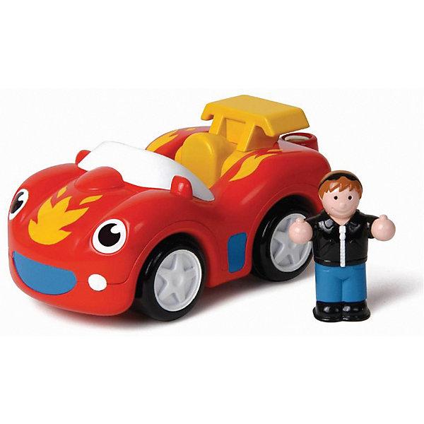 Гоночная машина Wow Toys с человечкомМашинки<br>Характеристики товара:<br><br>• возраст: от 1,5 лет;<br>• материал: пластик;<br>• в комплекте: машина, фигурка водителя;<br>• размер упаковки: 20х12х9 см;<br>• вес упаковки: 280 гр.<br><br>Гоночная машинка Wow Toys — спортивная машинка, оснащенная инерционным механизмом. У нее вращаются колеса, и она издает звуки двигателя. На игрушке есть магнитное крепление в виде крючка-прицепа, при помощи которого машинка взаимодействует с другими игрушками Wow Toys. Выполнена из качественного безопасного пластика.<br><br>Гоночную машинку Wow Toys можно приобрести в нашем интернет-магазине.<br>Ширина мм: 200; Глубина мм: 90; Высота мм: 120; Вес г: 280; Возраст от месяцев: 18; Возраст до месяцев: 168; Пол: Унисекс; Возраст: Детский; SKU: 7925655;