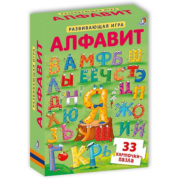 Развивающие карточки-пазлы Алфавит NEW, РобинсОбучающие карточки<br>Характеристики:<br><br>• ISBN: 978-5-4366-0440-4;<br>• возраст: от 3 лет;<br>• иллюстрации: цветные;<br>• в комплекте: 33 карточки;<br>• издательство: Робинс;<br>• количество страниц: 16;<br>• размеры: 11х15х2 см;<br>• масса: 383 г.<br><br>Развивающие карточки-пазлы Алфавит NEW уникальное пособие для изучения букв и обучения чтению, состоящее из 33 карточек-пазлов. Карточки легко складываются в слова, а на обратной стороне вы найдёте задания повышенной сложности с прописями для обучения письму. Для выполнения этого задания используйте маркер на водной основе.<br><br>Развивающие карточки-пазлы Алфавит NEW можно приобрести в нашем интернет-магазине.<br>Ширина мм: 110; Глубина мм: 152; Высота мм: 20; Вес г: 383; Возраст от месяцев: 60; Возраст до месяцев: 84; Пол: Унисекс; Возраст: Детский; SKU: 7926294;