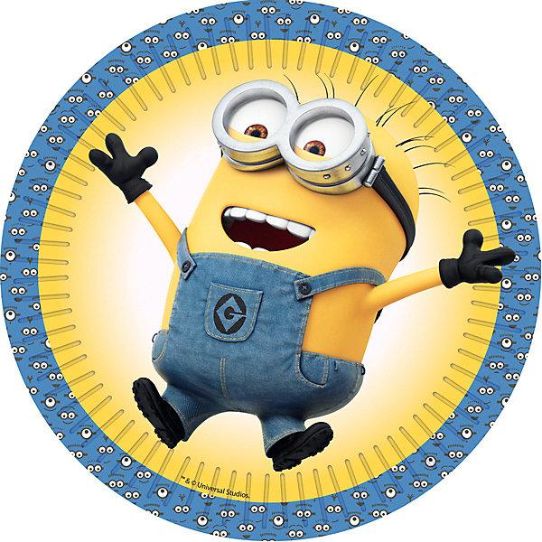 Набор из 6 тарелок Rosman Миньоны, диаметр 18 смТарелки<br>Характеристики:<br><br>• возраст: от 3 лет<br>• в наборе: 6 тарелок<br>• материал: бумага<br>• диаметр: 18 см.<br><br>Красивые, стильные одноразовые тарелки «Миньоны» бренда «Росмэн» с изображением героев мультсериала «Гадкий Я» отлично подойдут для организации детской вечеринки, дня рождения и других праздников.<br><br>Тарелки выполнены из плотной бумаги с глянцевым ламинированием. Они абсолютно безопасны, прекрасно удерживают еду, не промокают. Тарелки не разобьются и не поранят детей, их не придется мыть после завершения праздника.<br><br>Детские праздники с применением яркой одноразовой посуды станут намного веселее и красочней.<br><br>Набор из 6 тарелок Rosman Миньоны, диаметр 18 см можно купить в нашем интернет-магазине.<br>Ширина мм: 180; Глубина мм: 180; Высота мм: 10; Вес г: 50; Возраст от месяцев: 36; Возраст до месяцев: 120; Пол: Унисекс; Возраст: Детский; SKU: 7926326;