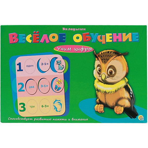 Рамки-вкладыши Рыжий кот Весёлое обучение Учим цифрыПособия для обучения счёту<br>Характеристики: <br><br>• возраст: от 2 лет;<br>• материал: картон, бумага;<br>• в наборе: 4 карточки-вкладыша;<br>• вес упаковки: 319 гр.;<br>• размер упаковки: 29,5х21,5х40 см;<br>• страна бренда: Россия.<br><br>В игре из серии «Веселое обучение» от бренда «Рыжий кот» малышу предстоит выполнять простые задания на память и внимательность, чтобы выучить и запомнить цифры. Помогут в этом карточки со съемными элементами, которые нужно поместить в подходящее место.<br><br>Занятия развивают логическое мышление, подготавливают ребенка к обучающим программам в детском саду и начальной школе.<br><br>Игру Веселое обучение «Учим цифры» можно купить в нашем интернет-магазине.<br>Ширина мм: 295; Глубина мм: 215; Высота мм: 400; Вес г: 319; Возраст от месяцев: 24; Возраст до месяцев: 2147483647; Пол: Унисекс; Возраст: Детский; SKU: 7926623;