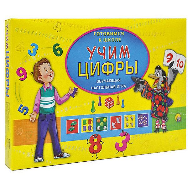 Настольная игра Рыжий кот Готовимся к школе Учим цифрыПособия для обучения счёту<br>Характеристики:<br><br>• возраст: от 3 лет;<br>• количество игроков: 2-4;<br>• в наборе: 1 игровое поле 56,5х42 см, карточки, 4 фишки, 1 кубик, правила игры;<br>• вес упаковки: 235 гр.;<br>• размер упаковки: 10х35х23 см;<br>• страна бренда: Россия.<br><br>Игра «Готовимся к школе. Учим цифры» от компании «Рыжий кот» поможет дошкольникам познакомиться со счетом в игровой форме. Красочные карточки содержат изображения с предметами, их количество соответствует цифре рядом. Ребенок легче запоминает материал с визуальными ассоциациями.<br><br>Игру «Готовимся к школе. Учим цифры» можно купить в нашем интернет-магазине.<br>Ширина мм: 100; Глубина мм: 350; Высота мм: 230; Вес г: 235; Возраст от месяцев: 36; Возраст до месяцев: 2147483647; Пол: Унисекс; Возраст: Детский; SKU: 7926629;