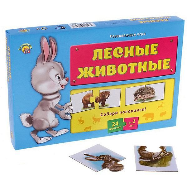 Развивающая игра Рыжий кот Ассоциации-половинки Лесные животныеОбучающие карточки<br>Характеристики: <br><br>• возраст: от 2 лет;<br>• материал: картон;<br>• в наборе: 24 карточки;<br>• вес упаковки: 240 гр.;<br>• размер упаковки: 29,5х21,5х40 см;<br>• страна бренда: Россия.<br><br>Игра «Ассоциации-половинки» от бренда «Рыжий кот» – простой и быстрый способ научить малыша распознавать животных. Ребенку предстоит сложить две карточки в один пазл, угадав, где чья половинка. Здесь и сыграет роль ассоциативное мышление. Занятия развивают логику, внимательность и тренируют память.<br><br>Игру «Ассоциации-половинки. Лесные животные» можно купить в нашем интернет-магазине.<br>Ширина мм: 295; Глубина мм: 215; Высота мм: 400; Вес г: 240; Возраст от месяцев: 24; Возраст до месяцев: 2147483647; Пол: Унисекс; Возраст: Детский; SKU: 7926665;