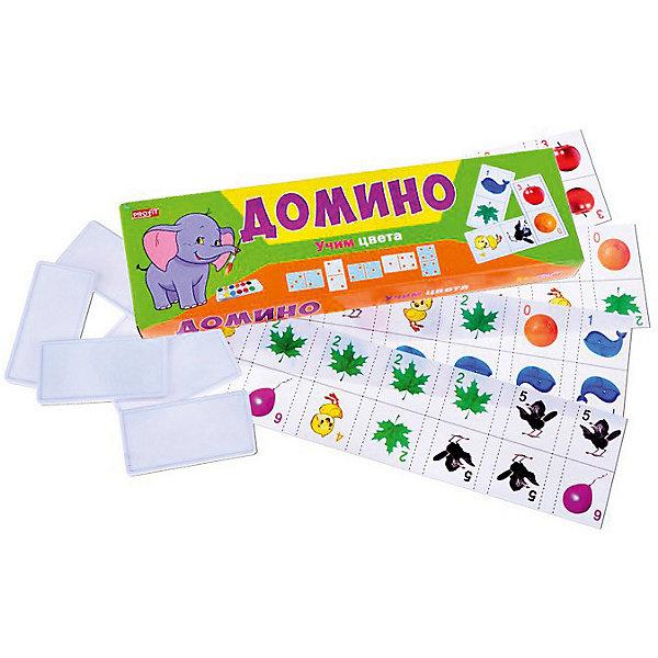 Настольная игра Рыжий кот Домино Учим цветаДомино<br>Характеристики: <br><br>• возраст: от 3 лет;<br>• материал: пластик, бумага;<br>• количество игроков: 2-4;<br>• в наборе: 28 пластиковых фишек, 28 наклеек;<br>• вес упаковки: 220 гр.;<br>• размер упаковки: 29х20х10 см;<br>• страна бренда: Россия.<br><br>Детское домино от бренда «Рыжий кот» содержит цветные яркие фишки с изображением предметов разных цветов. Принцип игры строится на правилах классического домино. Играя, малыш изучает новые названия, цвета. Развивается логическое мышление и внимательность.<br><br>Наклейки с картинками клеятся на пластиковые фишки самостоятельно.<br><br>Домино пластиковое. TM Profit «Учим цвета» можно купить в нашем интернет-магазине.<br>Ширина мм: 290; Глубина мм: 200; Высота мм: 100; Вес г: 220; Возраст от месяцев: 36; Возраст до месяцев: 2147483647; Пол: Унисекс; Возраст: Детский; SKU: 7926693;