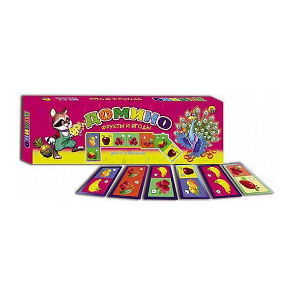 Настольная игра Рыжий кот Домино Фрукты и ягодыДомино<br>Характеристики:<br><br>• возраст: от 3 лет;<br>• количество игроков: 2-4;<br>• в наборе: 28 картонных карточек домино, правила игры;<br>• вес упаковки: 560 гр.;<br>• размер упаковки: 40х35х23 см;<br>• страна бренда: Россия.<br><br>Детское домино от бренда «Рыжий кот» содержит цветные яркие карточки с изображением фруктов и ягодок. Принцип игры строится на правилах классического домино. Играя, малыш изучает новые названия, цвета. Развивается логическое мышление и внимательность.<br><br>Домино «Фрукты и ягоды» можно купить в нашем интернет-магазине.<br>Ширина мм: 400; Глубина мм: 350; Высота мм: 230; Вес г: 560; Возраст от месяцев: 36; Возраст до месяцев: 2147483647; Пол: Унисекс; Возраст: Детский; SKU: 7926725;