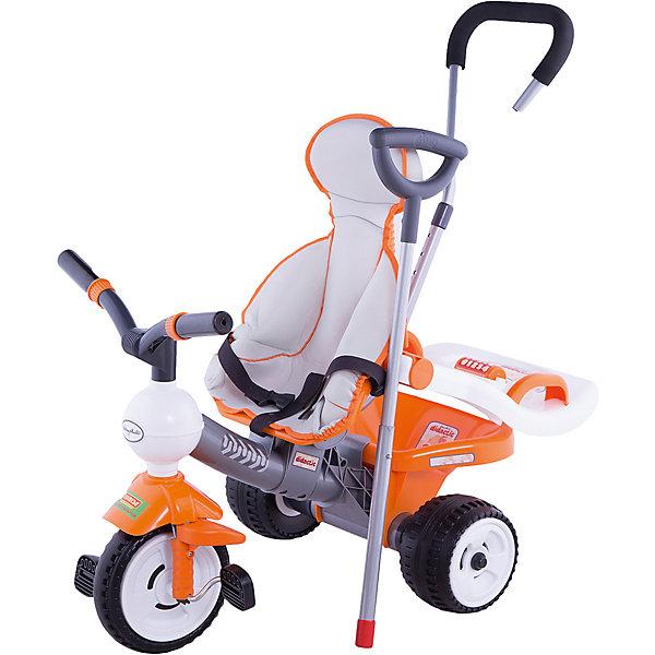 Трёхколесный велосипед Полесье Дидактик с игровой панелью, ручкой, ремешком и чехломВелосипеды и аксессуары<br>Характеристики:<br><br>• тип игрушки: велосипед;<br>• возраст: от 1 года;<br>• материал: пластик;<br>• цвет: оранжевый;<br>• вес: 5,4 кг;<br>• размер:72х50х55 см;<br>• страна бренда: Беларусь;<br>• бренд:  Полесье.<br> <br>Велосипед 3-х колёсный «Дидактик» с игровой панелью, ручкой, ремешком и чехлом Полесье - яркий и удобный велосипед для детей дошкольного возраста. В эту комплектацию входит  игровая панель для малыша, ручка для управления велосипедом, ремешок безопасности и чехол. 15 видов детских трёхколёсных велосипедов серии «Дидактик» от производителя «Полесье» - замечательные игрушки, которые и развлекут, и разовьют ребёнка! <br><br>При езде работают все группы мышц, тренируется чувство баланса, равновесия, двигательная активность, внимание ребёнка. При катании на велосипедах от «Полесья» можно научить ребёнка основным правилам дорожного движения. Важно, что велосипеды «Дидактик» от «Полесья» имеют игровую панель, которая увеличивает развивающие возможности велосипеда.<br><br>Велосипед 3-х колёсный «Дидактик» с игровой панелью, ручкой, ремешком и чехлом Полесье можно купить в нашем интернет-магазине.<br>Ширина мм: 725; Глубина мм: 495; Высота мм: 585; Вес г: 5403; Возраст от месяцев: 12; Возраст до месяцев: 2147483647; Пол: Унисекс; Возраст: Детский; SKU: 7927302;