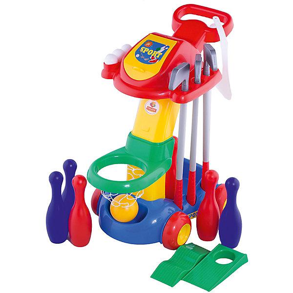 Набор игровой Полесье, в пакетеИгровые наборы<br>Характеристики:<br><br>• тип игрушки: игра;<br>• возраст: от 3 лет;<br>• цвет: красный, желтый, синий, зеленый;<br>• вес: 2,5 кг;<br>• размер: 56х37х63 см;<br>• страна бренда: Беларусь;<br>• бренд:Полесье.<br><br>Набор игровой (в пакете) Полесье - компактный игровой центр, который легко передвигать и можно использовать дома и на улице. Ребенок с радостью сам будет толкать тележку со своим спортивным инвентарем. Игровой комплекс включает в себя следующие активные игры: баскетбол, гольф (кепка для гольфа+ 3 клюшки для гольфа + 3 мяча + мостик + лунка ), кегельбан(кегли 5 шт. + 2 мяча).<br><br>Благодаря своей многофункциональности, игровой центр подойдет для одиночных игр и для игр целой компании детей, поэтому он удобен для организации спортивного уголка в детском саду.<br>Играя с любой из предложенных игр, ребенок развивает двигательные рефлексы и навыки (сноровка, ловкость, быстрота реакции), а командная игра развивает у ребенка морально-волевые качества.<br><br>Набор игровой (в пакете) Полесье можно купить в нашем интернет-магазине.<br>Ширина мм: 560; Глубина мм: 375; Высота мм: 630; Вес г: 2494; Возраст от месяцев: 36; Возраст до месяцев: 2147483647; Пол: Унисекс; Возраст: Детский; SKU: 7927304;