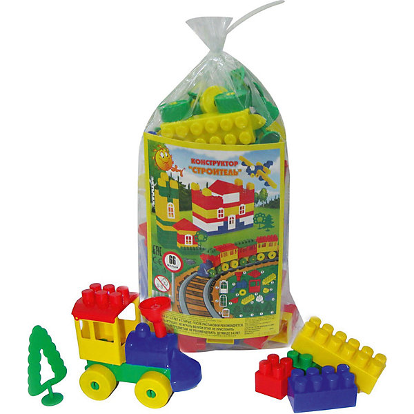 Конструктор Полесье Строитель малый 66 деталей, в мешкеПластмассовые конструкторы<br>Характеристики:<br><br>• тип игрушки: конструктор;<br>• возраст: от 3 лет;<br>• цвет: красный, желтый, зеленый;<br>• комплектация: 66 эл;<br>• вес: 500 гр;<br>• размер: 17,5х12,5х28 см;<br>• страна бренда: Беларусь;<br>• бренд: Полесье.<br><br>Конструктор «Строитель» (Малый, 66 элем. в мешке) Полесье - замечательный набор легких, ярких пластиковых деталей для увлекательного конструирования. В комплекте 66 деталей. Детали крупные, удобные для маленьких детских пальчиков; безопасны для малыша - не имеют острых углов; выполнены из яркого и приятного на ощупь пластика; детали легко и прочно соединяются между собой. <br><br>Постройки можно применить для сюжетно-ролевых игр. Игра с конструктором развивает образное и пространственное мышление, стимулирует фантазию и творческое воображение, организаторские навыки и речь. <br><br>Конструктор «Строитель» (Малый, 66 элем. в мешке) Полесье можно купить в нашем интернет-магазине.<br>Ширина мм: 175; Глубина мм: 125; Высота мм: 280; Вес г: 499; Возраст от месяцев: 36; Возраст до месяцев: 2147483647; Пол: Унисекс; Возраст: Детский; SKU: 7927306;