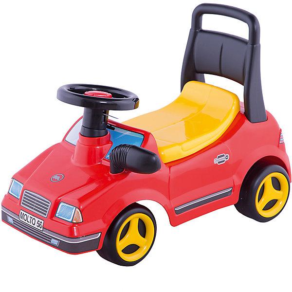 Каталка-автомобиль Полесье ВихрьКаталки для малышей<br>Характеристики:<br><br>• тип игрушки: каталка;<br>• возраст: от 3 лет;<br>• материал: пластик;<br>• цвет: красный, черный, желтый;<br>• вес: 2,2 кг;<br>• размер: 30х60х43 см;<br>• страна бренда: Беларусь;<br>• бренд:  Полесье.<br> <br>Каталка-автомобиль спортивный «Вихрь» Полесье   вызовет вихрь положительных эмоций не только у малыша, но и у его родителей. Яркая, качественная пластмасса, комфортное откидывающееся сиденье со спинкой для безопасности езды и багажником для игрушек под сидением, удобный для рук ребёнка руль, музыкальный сигнал, устойчивые колёса сделают катание на этом автомобиле приятным и безопасным для маленького любителя автомобилей.<br><br>Каталку-автомобиль спортивный «Вихрь» Полесье можно купить в нашем интернет-магазине.<br>Ширина мм: 600; Глубина мм: 305; Высота мм: 430; Вес г: 2206; Возраст от месяцев: 36; Возраст до месяцев: 2147483647; Пол: Унисекс; Возраст: Детский; SKU: 7927320;