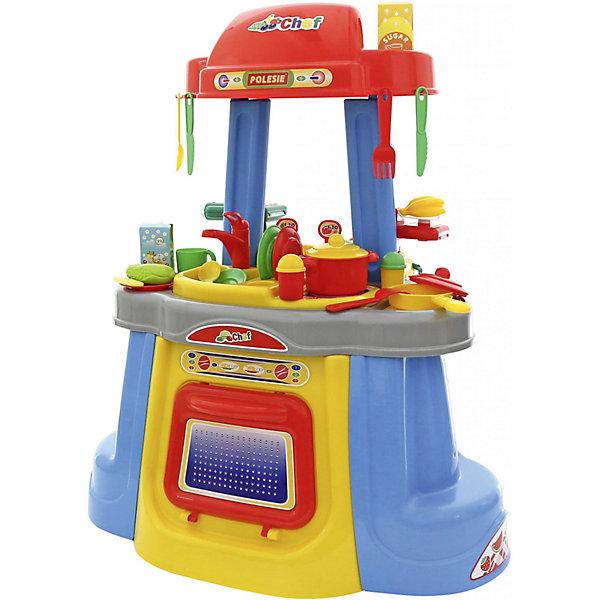 Игрушечная кухня Полесье ЭкспрессДетские кухни<br>Характеристики:<br><br>• тип игрушки: набор;<br>• возраст: от 3 лет;<br>• материал: пластик;<br>•  комплектация: кастрюля, сковорода, блюдца, баночки для специй,вилки, чашки, ложки, ножи; <br>• цвет: голубой, желтый, красный;<br>• вес: 4,4 кг;<br>• размер: 51,5х68х31,5 см;<br>• страна бренда: Беларусь;<br>• бренд: Полесье.<br><br>Набор «Экспресс» Полесье - наполненная различенными аксессуарами кухня, изготовленная из качественной прочной пластмассы ярких цветов. Кухня очень устойчивая, занимает немного места, её легко перемещать по квартире или группе детского сада. Можно использовать этот игровой набор и в условиях детской игровой площадки или дачного участка, так как пластмасса, из которой изготовлена кухня, легко моется, прочна и безопасна для детей.<br><br>Кухню «Экспресс» можно использовать для мотивации детей к здоровому питанию, так как в наборе имеются игрушечные продукты, с которыми можно организовывать игры на соответствующую тематику.<br><br>Множество полочек, имеющихся у кухни, позволяют удобно хранить все предметы, входящие в неё, что приучает ребёнка аккуратности в процессе и после игры.<br><br><br>Набор «Экспресс» Полесье можно купить в нашем интернет-магазине.<br>Ширина мм: 512; Глубина мм: 315; Высота мм: 680; Вес г: 4438; Возраст от месяцев: 36; Возраст до месяцев: 2147483647; Пол: Женский; Возраст: Детский; SKU: 7927346;