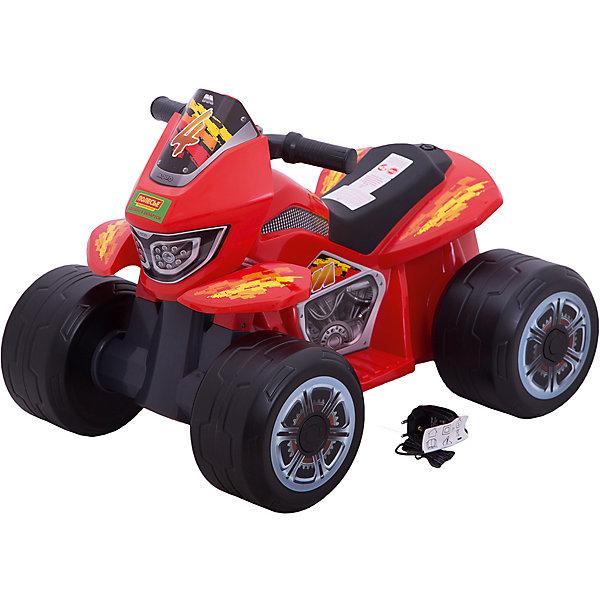Каталка-квадроцикл Полесье Molto 6V (R)Электромобили<br>Характеристики:<br><br>• тип игрушки: квадроцикл;<br>• возраст: от 0 лет;<br>• материал: пластик;<br>• цвет: оранжевый, черный;<br>• вес: 5,3 кг;<br>• размер: 45,5х62х48 см;<br>• страна бренда: Беларусь;<br>• бренд:  Полесье.<br> <br>Квадроцикл-мини «Molto» 6V (R) Полесье отлично подойдет для веселых  прогулок на свежем воздухе и станет любимым видом транспорта маленького путешественника. Машина выполнена из особо прочных материалов и имеет современную продуманную конструкцию, оснащена электронными умными тормозами. А для предупреждения пешеходов о приближающемся транспорте на руле расположен звонкий клаксон.<br><br>Заднеприводный квадроцикл создан специально для самых маленьких гонщиков, он выполнен в ярком и необычном дизайне и имеет отличные ходовые характеристики. Благодаря облегченной конструкции квадроцикл прост в управлении. Эргономичное сиденье обеспечит крохе максимально комфортную посадку.  Машина с легкостью преодолеет лужи, грунт, песок и траву, максимальный угол возвышения – 25%.<br><br>Нетоксичный пластик, из которого выполнен набор, не боится перепадов температур и не выгорает на солнце, отличается прочностью и долговечностью, он полностью безопасен для детей и не вызывает аллергию.  Модель имеет два электромотора, они герметичны и не требуют к себе никакого внимания и обслуживания, кроме периодической подзарядки.<br>Акселератор и тормоз совмещены в одной рукоятке. <br><br>Реалистичности модели добавляют руль, фары и наклейка с изображением мотора. Квадроцикл может ездить как вперед, так и назад. Передачи переключаются специальной кнопкой, расположенной на руле. Квадроцикл выполнен в сочетании черного и оранжевого цветов, украшен наклейками.<br><br>Квадроцикл-мини «Molto» 6V (R) Полесье  можно купить в нашем интернет-магазине.<br>Ширина мм: 620; Глубина мм: 478; Высота мм: 455; Вес г: 5280; Цвет: красный; Возраст от месяцев: -2147483648; Возраст до месяцев: 2147483647; Пол: Унисекс; Возраст: Детс