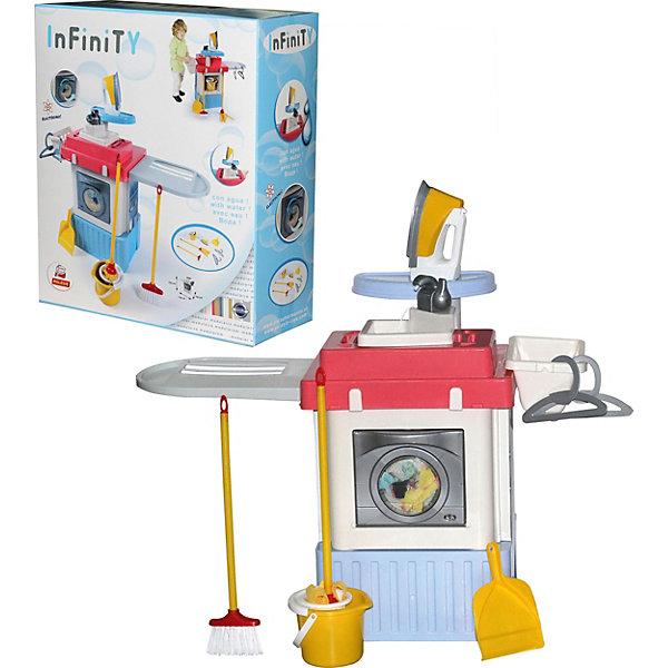 Игрушечная кухня Полесье Infinity premium №1, в коробкеДетские кухни<br>Характеристики:<br><br>• тип игрушки: набор;<br>• возраст: от 3 лет;<br>• материал: полипропилен;<br>•  комплектация: стиральная машина, щетка с длинной ручкой, швабра, совок, ведро, вешалки, утюг;<br>• цвет: бежевый, красный;<br>• вес: 3,4 кг;<br>• размер: 55,5х20х48,5 см;<br>• страна бренда: Беларусь;<br>• бренд:  Полесье.<br><br>Набор «INFINITY premium №1» Полесье представлен стиральной машинной барабанного типа и включает дополнительные аксессуары для интересных сюжетных игр. В процессе игры девочки сформируют понимание о необходимости выполнять домашнюю работу и научатся стирать, гладить и убираться в комнате поддерживая чистоту и порядок. Комплект выполнен в современном дизайне из прочного и качественного материала с пищевыми красителями.<br><br>Набор «INFINITY premium №1» Полесье можно купить в нашем интернет-магазине.<br>Ширина мм: 485; Глубина мм: 200; Высота мм: 555; Вес г: 3428; Возраст от месяцев: 36; Возраст до месяцев: 2147483647; Пол: Женский; Возраст: Детский; SKU: 7927372;
