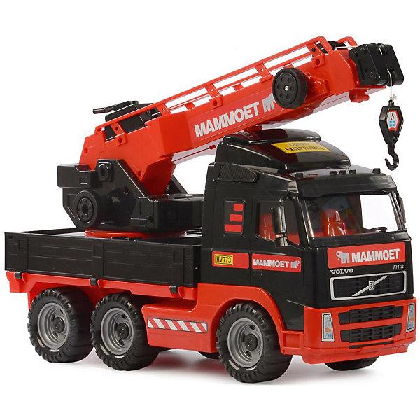 Автомобиль-кран Полесье Mammoet с поворотной платформой, в лоткеМашинки<br>Характеристики:<br><br>• тип игрушки: машинка;<br>• возраст: от 3 лет;<br>• материал: пластик;<br>• цвет: красный, черный;<br>• вес: 1,9 кг;<br>• размер: 49х23х34 см;<br>• страна бренда: Беларусь;<br>• бренд: Полесье.<br> <br>Автомобиль-кран с поворотной платформой  «MAMMOET VOLVO» (в лотке) Полесье особенно понравится юным автолюбителям, которые обожают устраивать в своей комнате гонки или имитировать перевозки грузов.  С помощью подвижной лебёдки крана дети будут имитировать перемещение грузов на импровизированной стройплощадке.<br><br>Транспортное средство с тщательно проработанным салоном выполнено очень реалистично, а также дополнено вращающимися колесиками с протекторами, поэтому увлекательная игра с ним станет намного правдоподобнее. Машинка окрашена в насыщенные цвета сертифицированными, безопасными для детей красителями, а также дополнена красочными наклейками на корпусе.<br><br>В итоге дети получат не просто новое пополнение в своей автоколлекции, но и основу для тематического развлечения, в ходе которого они разовьют фантазию и весело проведут время.<br><br>Автомобиль-кран с поворотной платформой  «MAMMOET VOLVO» (в лотке) Полесье можно купить в нашем интернет-магазине.<br>Ширина мм: 490; Глубина мм: 230; Высота мм: 340; Вес г: 1878; Цвет: черный/розовый; Возраст от месяцев: 36; Возраст до месяцев: 2147483647; Пол: Мужской; Возраст: Детский; SKU: 7927400;