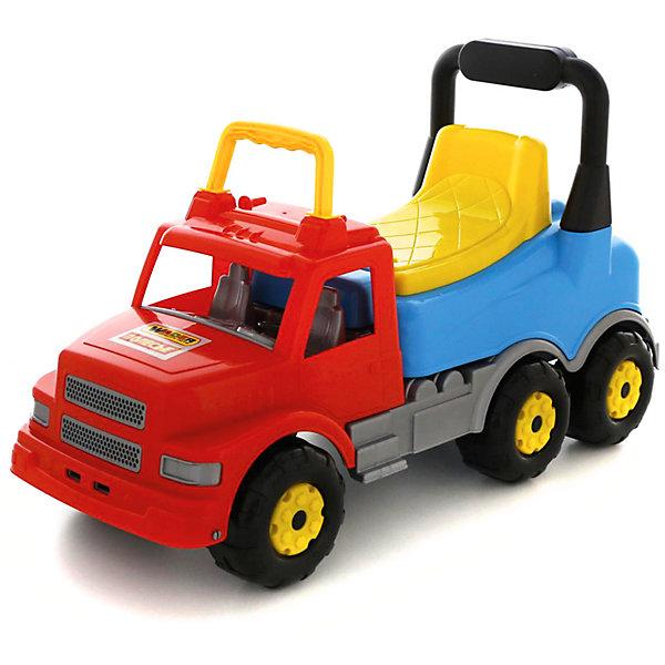 Купить Каталка-автомобиль Полесье Буран №2, красно-голубая, в коробке, Беларусь, синий/красный, Унисекс