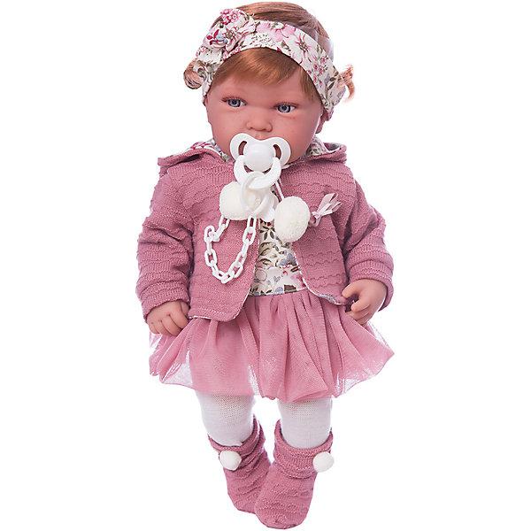 Кукла-пупс Munecas Antonio Juan Саманта в розовом, 40 смКуклы<br>Характеристики:<br><br>• тип игрушки: кукла;<br>• возраст: от 3 лет;<br>• материал: винил, текстиль;<br>• высота куклы: 40 см;<br>• вес: 1,68 кг;<br>• размер: 46х16,5х31 см;<br>• страна бренда: Испания;<br>• бренд: Juan Antonio Munecas.<br><br>Кукла Саманта в розовом, 40 см Juan Antonio Munecas выглядит как настоящая маленькая девочка. У нее пухлые щечки, большие выразительные глаза голубого цвета и маленький аккуратный носик. Кукла «Саманта» одета в розовый костюмчик с цветочным принтом, состоящий из кофточки и сетчатой юбочки. Сверху него накинута кофточка с длинным рукавом и капюшоном аналогичной цветовой гаммы.<br><br>Волосы куклы аккуратно убраны с помощью ободка. На ногах малышки одеты белые колготки и розовые пинетки с бантиками. В комплекте с куклой поставляется пустышка на цепочке с прищепкой, которая надежно крепится к одежде малышки, что исключает ее случайную потерю. В качестве материала изготовления был использован высококачественный винил, поэтому куклу приятно трогать и держать в руках. Ее кожа является мягкой и гладкой благодаря покрытию «Софт тач».<br><br>Куклу Саманта в розовом, 40 см Juan Antonio Munecas можно купить в нашем интернет-магазине.<br>Ширина мм: 165; Глубина мм: 310; Высота мм: 460; Вес г: 1680; Цвет: розовый; Возраст от месяцев: 36; Возраст до месяцев: 2147483647; Пол: Женский; Возраст: Детский; SKU: 7931208;