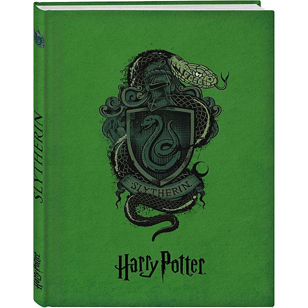 Блокнот Гарри Поттер. Факультет СлизеринБумажная продукция<br>Характеристики:<br><br>• тип игрушки: книга;<br>• возраст: от 12 лет;<br>• материал: бумага;<br>• ISBN:  978-5-699-98530-2;<br>• количество страниц: 160 (офсет);<br>• переплет: твердый;<br>• вес: 329 гр;<br>• размер: 20,7х14,5х1,5 см;<br>• издательство: Эксмо.<br><br>Книга «Блокнот. Факультет Слизерин» Эксмо повторяет коллекционные издания книг! <br>Эксклюзивные оформления четырех факультетов - Гриффиндор, Слизерин, Когтевран, Пуффендуй со стильными гербами и главными животными факультетов и все в сочных фирменных цветах с закрашенным в тон обрезом. Внутри вы найдете максимально удобный блок в линейку для записи ваших мыслей и дел. Станьте обладателем коллекционных блокнотов магической вселенной!<br><br>Книгу «Блокнот. Факультет Слизерин» Эксмо  можно купить в нашем интернет-магазине.<br>Ширина мм: 207; Глубина мм: 144; Высота мм: 17; Вес г: 328; Возраст от месяцев: 144; Возраст до месяцев: 180; Пол: Унисекс; Возраст: Детский; SKU: 7932059;