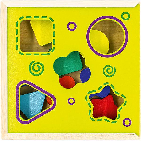Сортер Alatoys, 8 деталейДеревянные игрушки<br>Характеристики:<br><br>• тип игрушки: сортер;<br>• возраст: от 3 лет;<br>• материал: дерево;<br>• вес: 550 гр;<br>• размер: 18х18х6 см;<br>• страна бренда: Россия;<br>• бренд: ALATOYS .<br><br>Сортер 8 деталей ALATOYS представляет собой коробочку, на крышке которой вырезаны различные геометрические фигуры. Также в комплекте есть 8 разноцветных вкладышей. Все элементы набора сделаны из дерева. Ребенок должен вложить вкладыши в соответствующие отверстия. Если он сделает это правильно, фигурки упадут в коробочку. Эта игра надолго увлечет малыша, развивая логику, цветовое восприятие, пространственное мышление и мелкую моторику пальцев.<br><br>Сортер 8 деталей ALATOYS  можно купить в нашем интернет-магазине.<br>Ширина мм: 180; Глубина мм: 180; Высота мм: 60; Вес г: 550; Возраст от месяцев: -2147483648; Возраст до месяцев: 2147483647; Пол: Унисекс; Возраст: Детский; SKU: 7932377;