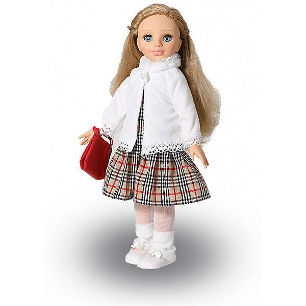 Кукла Весна Эсна 3, 46,5 смБренды кукол<br>Характеристики:<br><br>• тип игрушки: кукла;<br>• возраст: от 3 лет;<br>• материал: винил, текстиль;<br>• высота игрушки: 47 см;<br>• вес: 1,6 кг;<br>• размер: 55х27х13 см;<br>• страна бренда: Россия;<br>• бренд: Весна.<br><br>Кукла Весна  Эсна 3  с интересным лицом, открытым взглядом, пушистыми ресницами, роскошными волосами. В комплект одежды коллекции «Весна-осень» входит: платье из костюмной клетки, отрезное по линии бёдер, без рукавов и воротника, с застёжкой сзади на «Велкро». <br><br>Куртка из флиса с воротником-стойкой из искусственного меха, с длинными рукавами, застёжкой спереди сверху на «Велкро». По низу куртки и низу рукавов настрочено вязаное кружево. Гетры из флиса с бантиками. Колготки из сетки-стрейч. Сумка из искусственной кожи с застёжкой на липучку крепится к руке куклы атласной лентой. Комплект дополнен туфлями. <br><br>Производитель оставляет за собой право изменения цветовой гаммы одежды и волос куклы, цвет глаз может варьироваться. <br><br>Куклу Весна  Эсна 3  можно купить в нашем интернет-магазине.<br>Ширина мм: 550; Глубина мм: 270; Высота мм: 130; Вес г: 1625; Возраст от месяцев: 36; Возраст до месяцев: 2147483647; Пол: Женский; Возраст: Детский; SKU: 7932379;