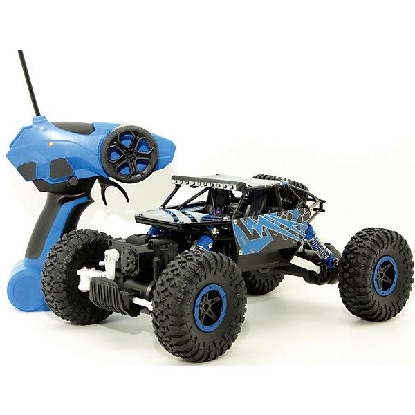 Радиоуправляемая машина Balbi Внедорожник Crawler 1:18, синийРадиоуправляемые машины<br>Характеристики:<br><br>• тип игрушки: машина;<br>• возраст: от 8 лет;<br>• материал: пластик, металл;<br>• комплектация:  машина, пульт управления;<br>• тип батареек: 6 x AA / LR6 1.5V;<br>• масштаб: 1:18;<br>• цвет: синий;<br>• вес: 1,3 кг;<br>• размер: 21х37х17 см;<br>• страна бренда: Россия;<br>• бренд: BALBI.<br><br>Машина на р/у «Внедорожник CRAWLER» синий - это мощный внедорожник синего цвета, выполненный в масштабе 1:18 по отношению к реальному прототипу. Игрушка от торговой марки Balbi - это сочетание крупных колес и высоко посаженного корпуса, благодаря чему автомобиль выглядит очень оригинально.<br><br>Маневренный джип Краулер с полным приводом и открытой кабиной способен ездить во всех направлениях, будучи управляемым при помощи пульта, входящего в комплект. Корпус авто украшен тюнингом, придающим машине р/у стильности.<br><br>Машину на р/у «Внедорожник CRAWLER»  синий можно купить в нашем интернет-магазине.<br>Ширина мм: 170; Глубина мм: 370; Высота мм: 210; Вес г: 1333; Возраст от месяцев: 60; Возраст до месяцев: 2147483647; Пол: Мужской; Возраст: Детский; SKU: 7932399;
