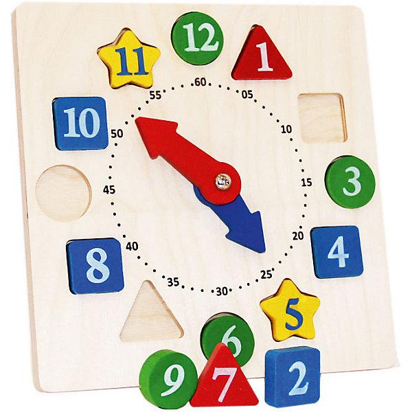 Обучающий набор Краснокамская игрушка ЧасикиРазвивающие центры<br>Характеристики:<br><br>• тип игрушки: набор;<br>• возраст: от 3 лет;<br>• материал: дерево;<br>• комплектация: циферблат со стрелками + 12 фишек с цифрами;<br>• вес: 500 гр;<br>• размер: 23х23х3 см;<br>• страна бренда: Россия;<br>• бренд: Краснокамская игрушка.<br><br>Обучающий набор «Часики» Краснокамская игрушка познакомит детей с понятием времени. На циферблате по кругу расположено 12 фигур-вкладышей, отличающихся между собой формой и цветом. В игре малыши познакомятся с цифрами, различными геометрическими фигурами, научатся считать до 12, самостоятельно устанавливать часы и минуты. Такая игровая деятельность способствует тренировке логического мышления, развитию внимания и зрительной памяти, усидчивости, укреплению мелкой моторики рук.<br><br>Обучающий набор «Часики» Краснокамская игрушка можно купить в нашем интернет-магазине.<br>Ширина мм: 230; Глубина мм: 230; Высота мм: 30; Вес г: 500; Возраст от месяцев: 36; Возраст до месяцев: 2147483647; Пол: Унисекс; Возраст: Детский; SKU: 7932409;