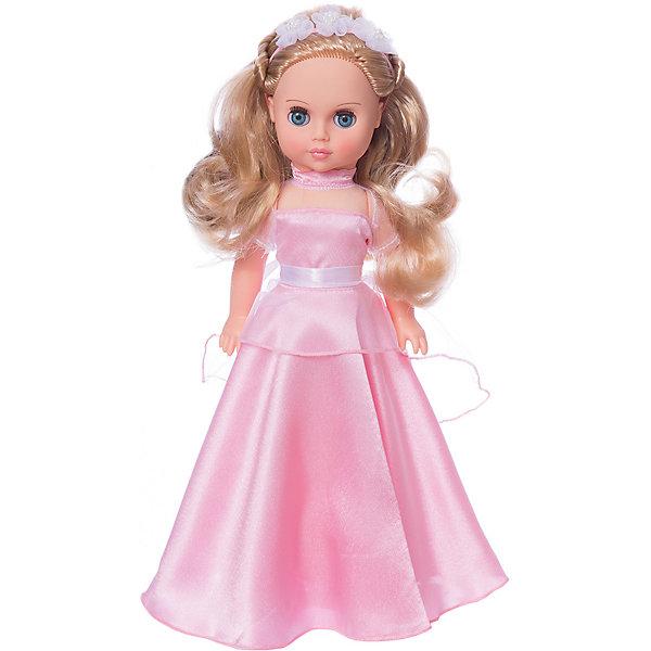 Кукла Весна Мила 9, 38,5 смБренды кукол<br>Характеристики:<br><br>• тип игрушки: кукла;<br>• возраст: от 3 лет;<br>• материал: винил, текстиль;<br>• высота игрушки: 38,5 см;<br>• вес: 667 гр;<br>• размер: 43х18х10 см;<br>• страна бренда: Россия;<br>• бренд: Весна.<br><br>Кукла Весна  Мила 9 может стать настоящей подружкой для ребёнка. В комплект одежды куклы входит длинное нарядное платье из шёлка и сетки, лента для волос, туфли. Производитель оставляет за собой право изменения цветовой гаммы одежды и волос куклы, цвет глаз может варьироваться. <br><br>Игровые и дидактические возможности куклы: наличие элементов одежды, которые легко снимаются и надеваются, разнообразит возможности сюжетно-ролевых игр с этой куклой, в процессе которых развивается мелкая моторика и творческое воображение ребёнка. <br><br>Куклу Весна  Мила 9 можно купить в нашем интернет-магазине.<br>Ширина мм: 430; Глубина мм: 180; Высота мм: 100; Вес г: 667; Возраст от месяцев: 36; Возраст до месяцев: 2147483647; Пол: Женский; Возраст: Детский; SKU: 7932411;