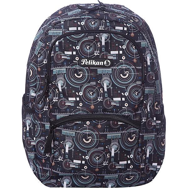 Рюкзак Pelikan Zipper Pocket Style Robot, 40х28х15смРюкзаки<br>Характеристики:<br><br>• школьный рюкзак для учеников 5-11 класса;<br>• жесткая эргономичная спинка;<br>• мягкие лямки регулируются по длине;<br>• вместительное основное отделение;<br>• два передних кармана на молнии;<br>• отделение с органайзером;<br>• боковые карманы, 2 шт., с сетчатой основой; <br>• размер: 40х28х15 см;<br>• вентилируемый материал;<br>• внутренняя подкладка;<br>• светоотражающие элементы расположены на лямках;<br>• размер упаковки: 41х32х7 см;<br>• вес: 495 г. <br><br>Школьный рюкзак с эргономичной спинкой подходит ученикам старших классов. Вместительное внутреннее отделение для тетрадей и учебников, дополнительные центральные карманы на молнии и боковые без застежек. Рюкзак представлен в сером цвете с абстрактным принтом.<br><br>Рюкзак Pelikan Zipper Pocket Style Robot, 40х28х15см можно купить в нашем интернет-магазине.<br>Ширина мм: 400; Глубина мм: 280; Высота мм: 150; Вес г: 590; Возраст от месяцев: 72; Возраст до месяцев: 144; Пол: Женский; Возраст: Детский; SKU: 7932927;
