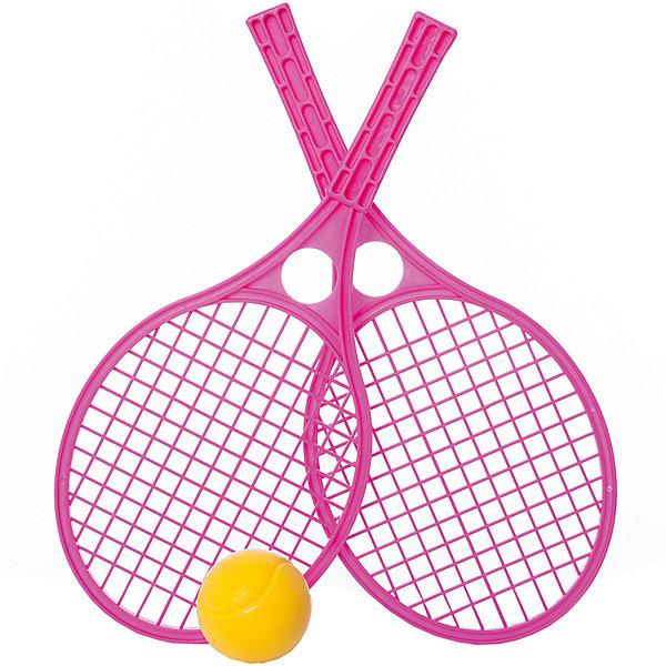 Ирровой набор Mochtoys ТеннисБадминтон и теннис<br>Характеристики:<br><br>• тип игрушки: набор;<br>• возраст: от 3 лет;<br>• материал: пластик;<br>• вес:  210 гр;<br>• размер: 42,5х19х6,5 см;<br>• страна бренда: Польша;<br>• бренд: Mochtoys.<br><br>Набор для тенниса Mochtoys непременно понравится вашему ребенку. Все что нужно для игры в теннис содержится в этом наборе. Комплект включает в себя пару ракеток и мячик. Остается только найти подходящую площадку и наслаждаться игрой. Теннис хорошо развивает такие физические навыки, как ловкость и скорость реакции.<br><br>Игрушка изготовлена  из высококачественного, экологически безопасного пластика, соответствующего всем стандартам, санитарным требованиям и нормам, предъявляемым к продукции детского назначения.<br><br>Набор для тенниса Mochtoys можно купить в нашем интернет-магазине.<br>Ширина мм: 425; Глубина мм: 190; Высота мм: 65; Вес г: 210; Цвет: зеленый; Возраст от месяцев: 36; Возраст до месяцев: 2147483647; Пол: Унисекс; Возраст: Детский; SKU: 7933633;