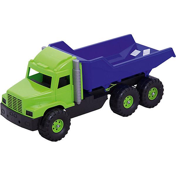 Большая машинка Dohany ГрузовикМашинки<br>Характеристики:<br><br>• тип игрушки: грузовик;<br>• возраст: от 3 лет;<br>• материал: пластик;<br>• вес:  2 кг;<br>• размер: 76х28х30 см;<br>• страна бренда: Венгрия;<br>• бренд: Dohany.<br><br>Грузовик «Макси» Dohany станет достойным экземпляром в коллекции игрушечных автомобилей. Машинка обладает достаточными размерами-  76/30/28 см. для того, чтобы ребенок смог перевозить в ней небольшие предметы, игрушки, камни или песок. Игрушка изготовлена  из высококачественного, экологически безопасного пластика, соответствующего всем стандартам, санитарным требованиям и нормам, предъявляемым к продукции детского назначения.<br><br>Грузовик «Макси» Dohany можно купить в нашем интернет-магазине.<br>Ширина мм: 760; Глубина мм: 280; Высота мм: 300; Вес г: 2090; Цвет: разноцветный; Возраст от месяцев: 36; Возраст до месяцев: 2147483647; Пол: Мужской; Возраст: Детский; SKU: 7933653;