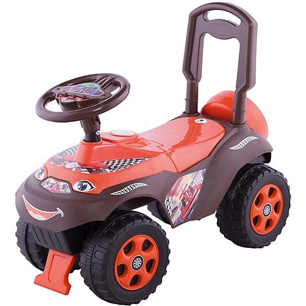 """Машина-каталка Doloni Автошка"""" без музыки, красно-коричневаяКаталки для малышей<br>Характеристики:<br><br>• тип игрушки: каталка;<br>• возраст: от 3 лет;<br>• материал: пластик;<br>• максимальная нагрузка: 35 кг;<br>• вес:  2,5 кг;<br>• размер: 61х30х49 см;<br>• страна бренда: Украина;<br>• бренд: Doloni.<br><br>Машинка для катания «Автошка» без музыки коричневый/красный Doloni станет любимой игрушкой Вашего малыша. Ребёнку понравится кататься, отталкиваясь ножками. Кроме того, что это поможет ему весело провести время, такие упражнения также положительно повлияют на развитие мышц ног. Машинка имеет специально предусмотренный блокиратор спереди и сзади, который не позволяет перевернуться в случае, если ребёнок переклонился вперёд или назад.<br><br>Для любимых небольших игрушек, с которыми малыш не расстаётся, под сиденьем предусмотрен бардачок.«Автошка» выполнена из прочного и безопасного пластика. Машинка -каталка оборудована высокой спинкой, чтобы ребенок мог самостоятельно сесть за руль. Также, упершись руками в спинку, ребенок может катить машинку-каталку перед собой — прекрасная опора детям, которые только учатся ходить. <br><br>Толокар изготовлен из экологически чистых материалов, качественного пластика, весит мало, но при этом, надежный. Рассчитан на вес до 35 кг. Высота до сиденья 25 см.<br><br>Машинку для катания «Автошка» без музыки коричневый/красный Doloni можно купить в нашем интернет-магазине.<br>Ширина мм: 610; Глубина мм: 300; Высота мм: 490; Вес г: 2500; Цвет: красный/коричневый; Возраст от месяцев: 36; Возраст до месяцев: 2147483647; Пол: Мужской; Возраст: Детский; SKU: 7933657;"""