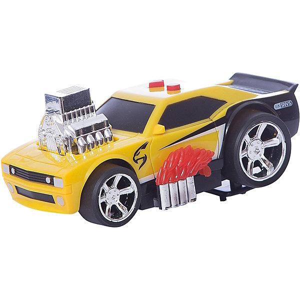 Гоночная машина Играем вместе, черно-желтаяМашинки<br>Характеристики товара:<br><br>• возраст: от 3 лет;<br>• материал: пластик;<br>• тип батареек: 2 батарейки АА;<br>• наличие батареек: в комплекте;<br>• размер упаковки: 21х11х12 см;<br>• вес упаковки: 360 гр.<br><br>Гоночная машина Играем вместе черно-желтая позволит устроить захватывающие гонки. У машины прочный корпус, дополненный необычными элементами дизайна. Задние колеса намного больше и шире передних, что позволяет ей преодолевать сложные участки. Световые и звуковые эффекты сделают игру еще увлекательней.<br><br>Гоночную машину Играем вместе черно-желтую можно приобрести в нашем интернет-магазине.<br>Ширина мм: 210; Глубина мм: 110; Высота мм: 120; Вес г: 360; Цвет: черный/желтый; Возраст от месяцев: 36; Возраст до месяцев: 120; Пол: Мужской; Возраст: Детский; SKU: 7934572;