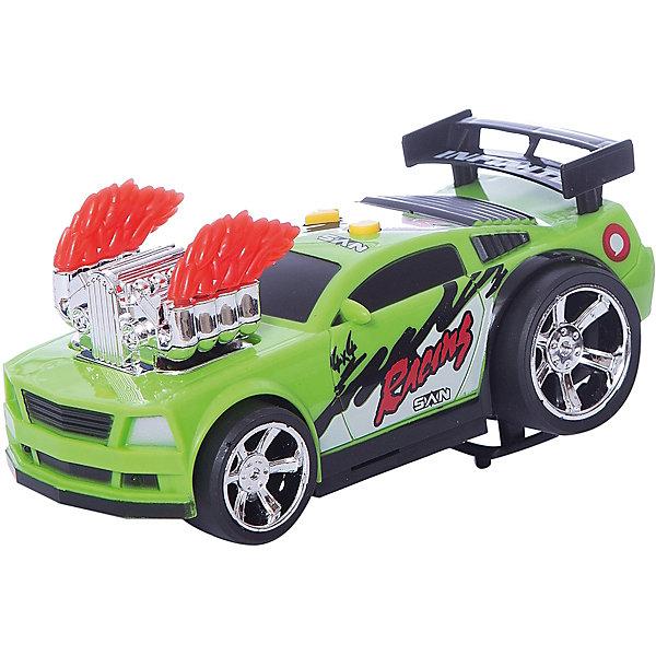 Гоночная машина Играем вместе, зеленаяМашинки<br>Характеристики товара:<br><br>• возраст: от 3 лет;<br>• материал: пластик;<br>• тип батареек: 2 батарейки АА;<br>• наличие батареек: в комплекте;<br>• размер упаковки: 21х13х12 см;<br>• вес упаковки: 320 гр.<br><br>Гоночная машина Играем вместе зеленая позволит устроить захватывающие гонки. У машины прочный корпус, дополненный ярким рисунком и необычными элементами дизайна. Задние колеса намного больше и шире передних, что позволяет ей преодолевать сложные участки. Световые и звуковые эффекты сделают игру еще увлекательней.<br><br>Гоночную машину Играем вместе зеленую можно приобрести в нашем интернет-магазине.<br>Ширина мм: 210; Глубина мм: 130; Высота мм: 120; Вес г: 320; Цвет: зеленый; Возраст от месяцев: 36; Возраст до месяцев: 120; Пол: Мужской; Возраст: Детский; SKU: 7934580;