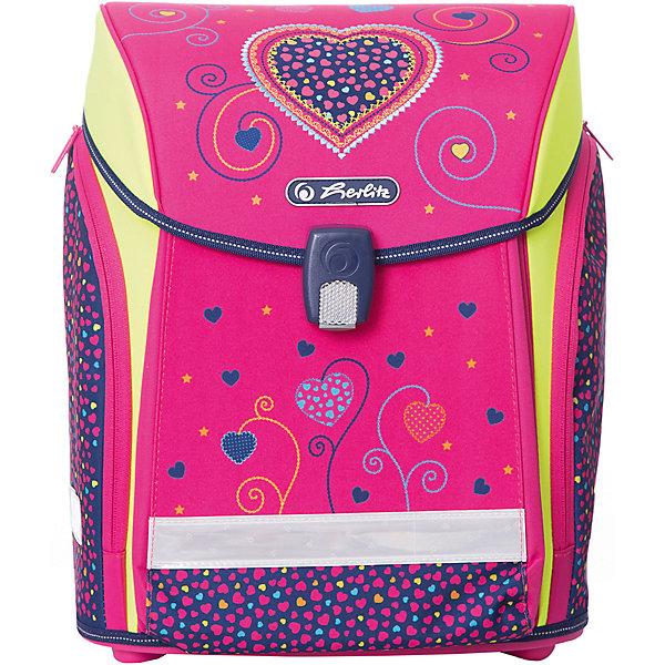 Купить Ранец Herlitz Midi New Pink Hearts, без наполнения, Германия, розовый/розовый, Женский