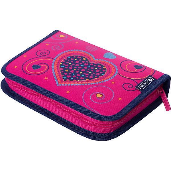 Купить Пенал Herlitz 31 предмет, Pink Hearts, herlitz, Германия, розовый/розовый, Женский